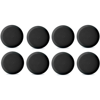 8) NEW Pyle PDIC81RDBK 250W 8 Inch Flush In-Wall In-Ceiling Black Speakers Eight