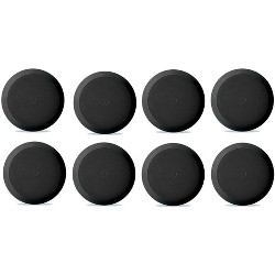 4 Pyle PDIC81RDBK 150W 8 Inch Flush In-Wall In-Ceiling Black Speakers Four