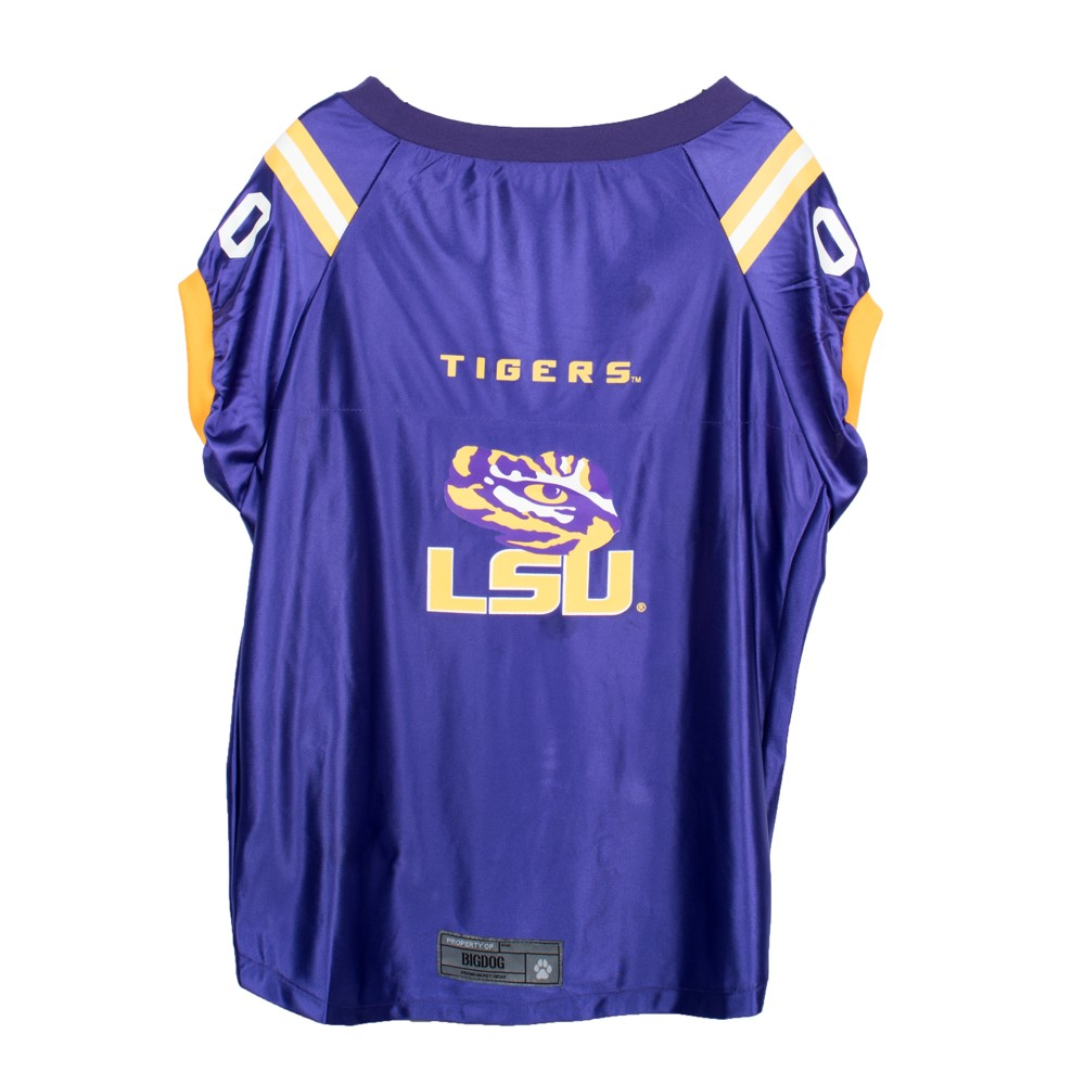 Lsu Tigers Little Earth Premium Pet Football Jersey - XS, Purple/Gold