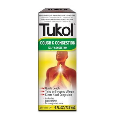 Tukol Extra Strength Multi Symptom Cold Relief Liquid - Dextromethorphan - 4 fl oz