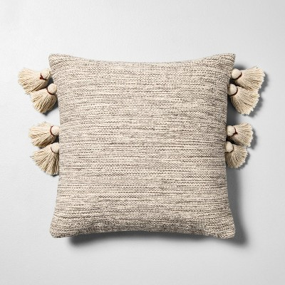 Textured Throw Pillow Tan - Hearth & Hand™ with Magnolia