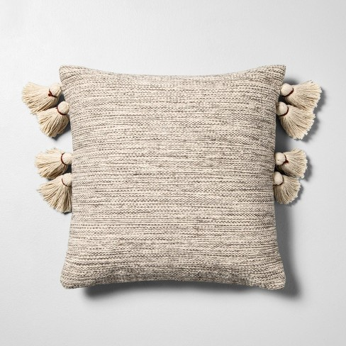 Textured Throw Pillow Tan - Hearth & Hand™ with Magnolia - image 1 of 4