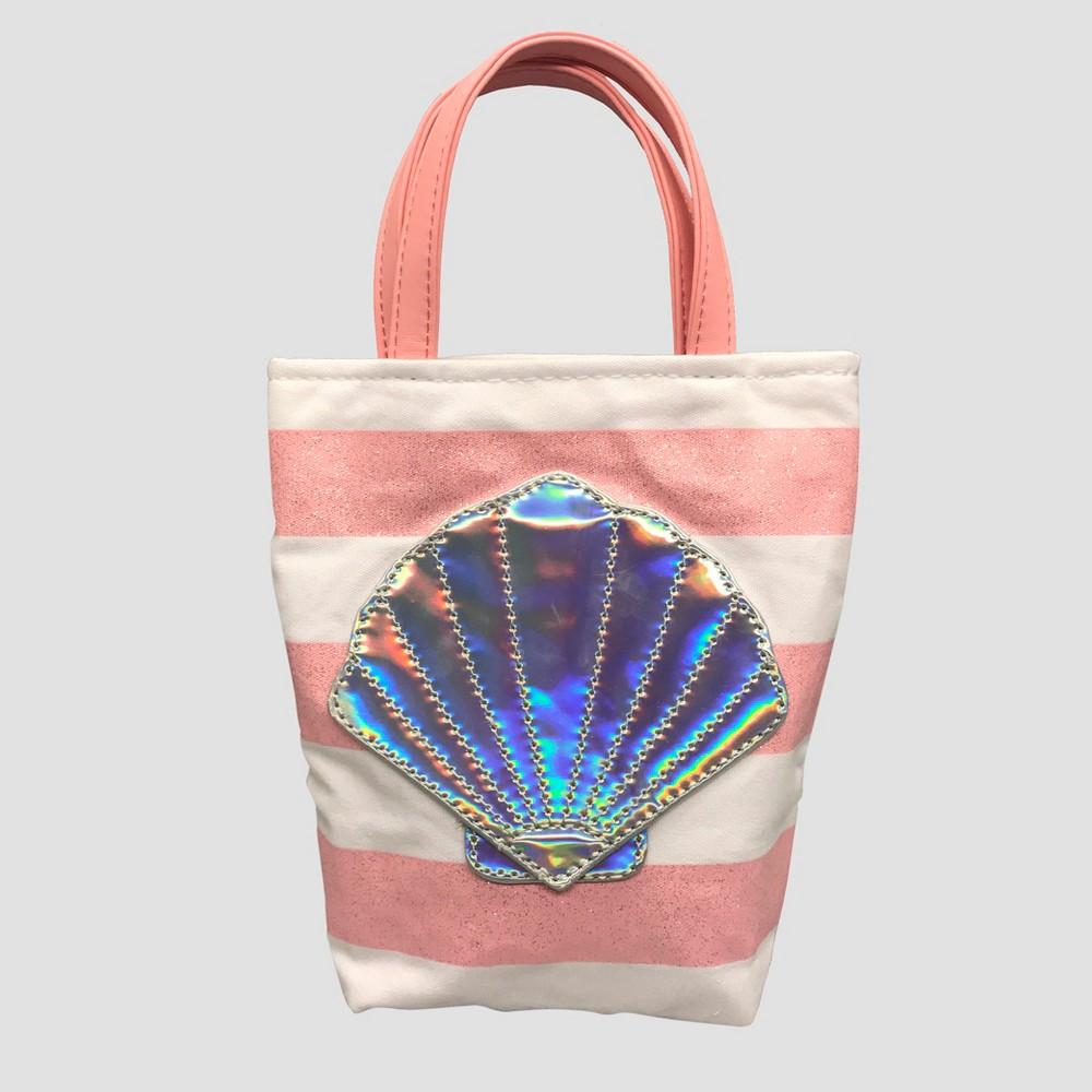 Toddler Girls' Sea Shell Striped Tote Bag - Cat & Jack Pink, Size: Large