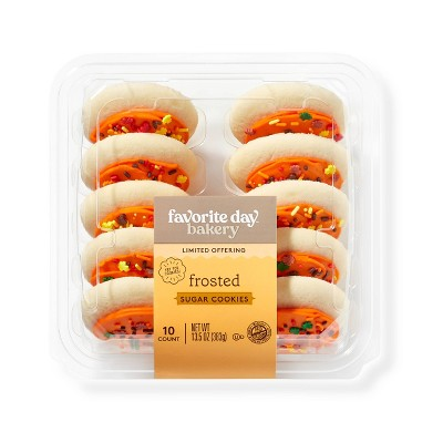Orange Frosted Cookies - 10ct - Favorite Day™