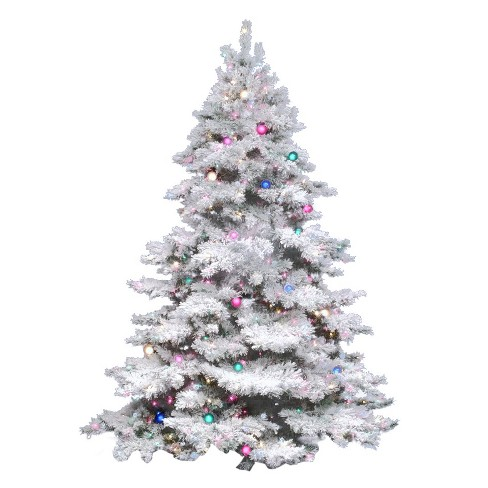 About this item - 4.5ft Pre-Lit Artificial Christmas Tree Flocked Alaskan