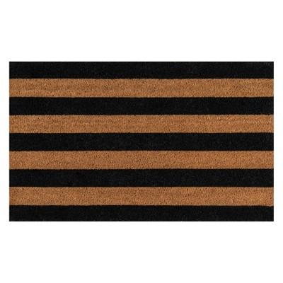 1'6 X2'6  Stripe Woven Door Mat Black - Erin Gates By Momeni
