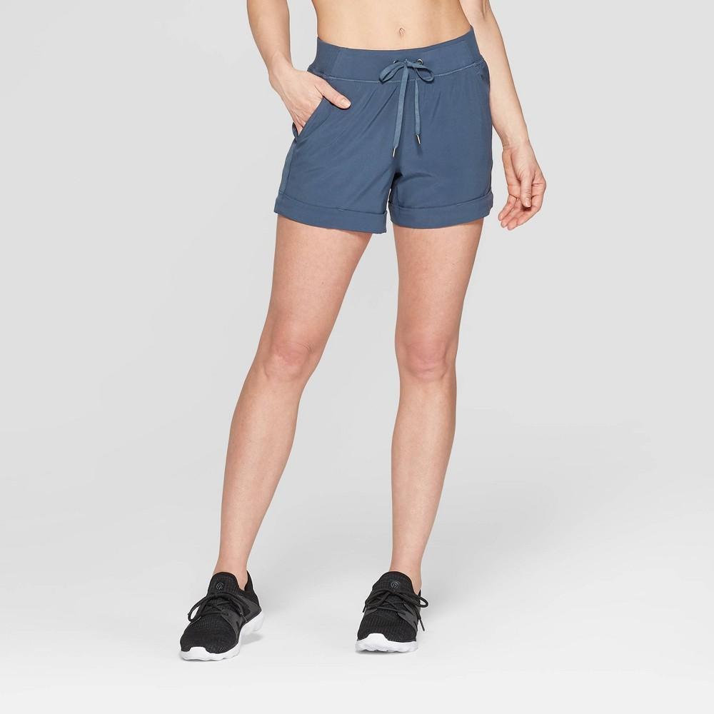 Women's Woven Mid-Rise Shorts - C9 Champion Blue Grey XS