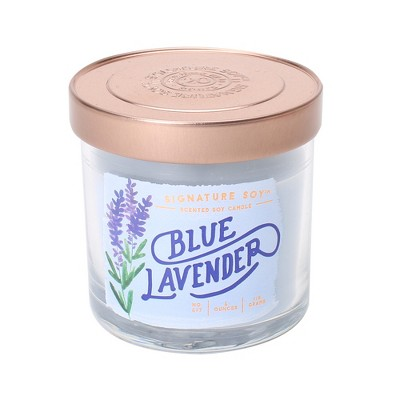4oz Lidded Glass Jar Candle Blue Lavender - Signature Soy