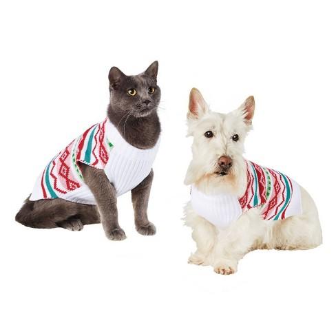 Colorful Fairisle Cat & Dog Sweater - Pink - Wondershop™ - image 1 of 1