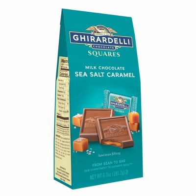 Ghirardelli Milk Chocolate Sea Salt Caramel Squares - 6.3oz