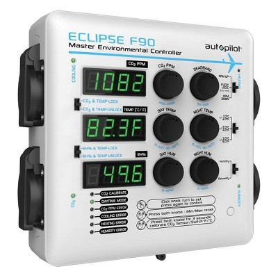 Autopilot APE4200 Eclipse F90 Master Environmental Controller Growing Tent Greenhouse Wall Unit for Humidity, Temperature, and CO2, White