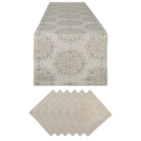 Winter Sparkle Jacquard Table Set - Design Imports - image 1 of 4
