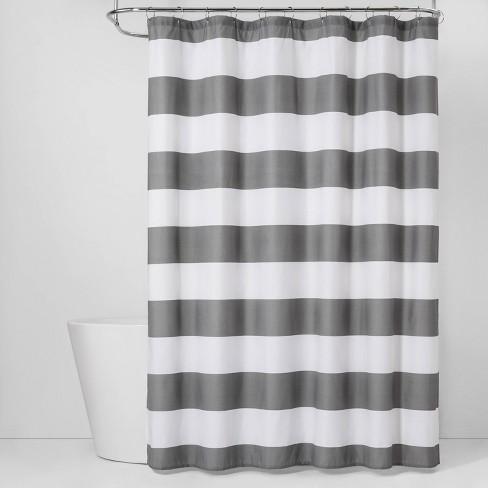Stripe Shower Curtain Gray Mist - Room Essentials™ - image 1 of 2