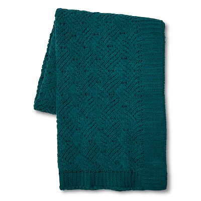 Teal Chenille Basketweave Throw Blanket (50 x60 )- Threshold™