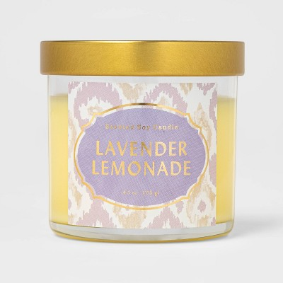 4.1oz Lidded Glass Jar Lavender Lemonade Candle - Opalhouse™