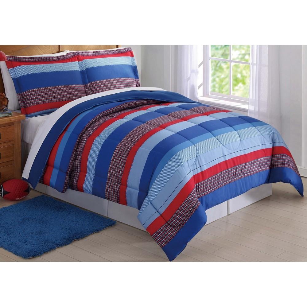 Full/Queen Sebastian Striped Comforter Set - My World, Multicolored