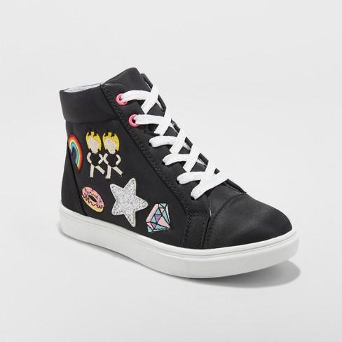 sale retailer e7c17 169da Girls  Doodle Emoji Hightop Sneakers - Stevies