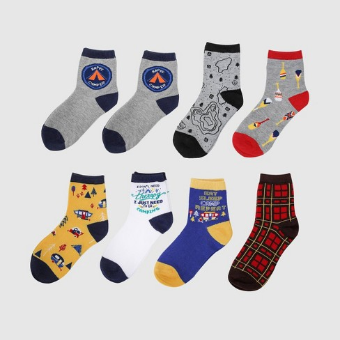 8 Pairs Camping Socks Adult - Bullseye's Playground™ - image 1 of 1