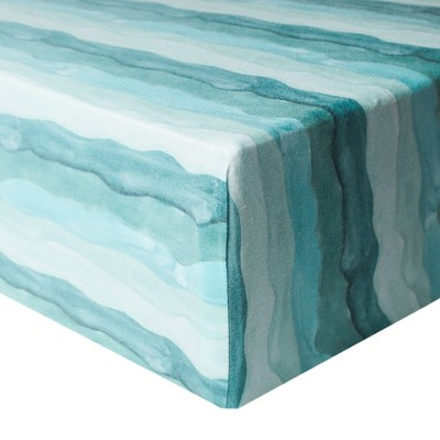 Copper Pearl Premium Crib Sheet - Waves
