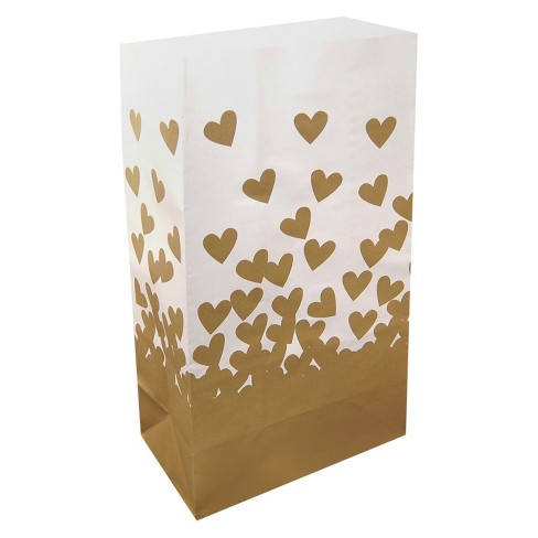 24ct Gold Hearts Luminaria Bag - image 1 of 2