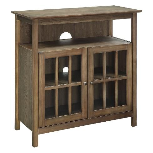 Big Sur Highboy TV Stand Driftwood - Johar Furniture - image 1 of 3