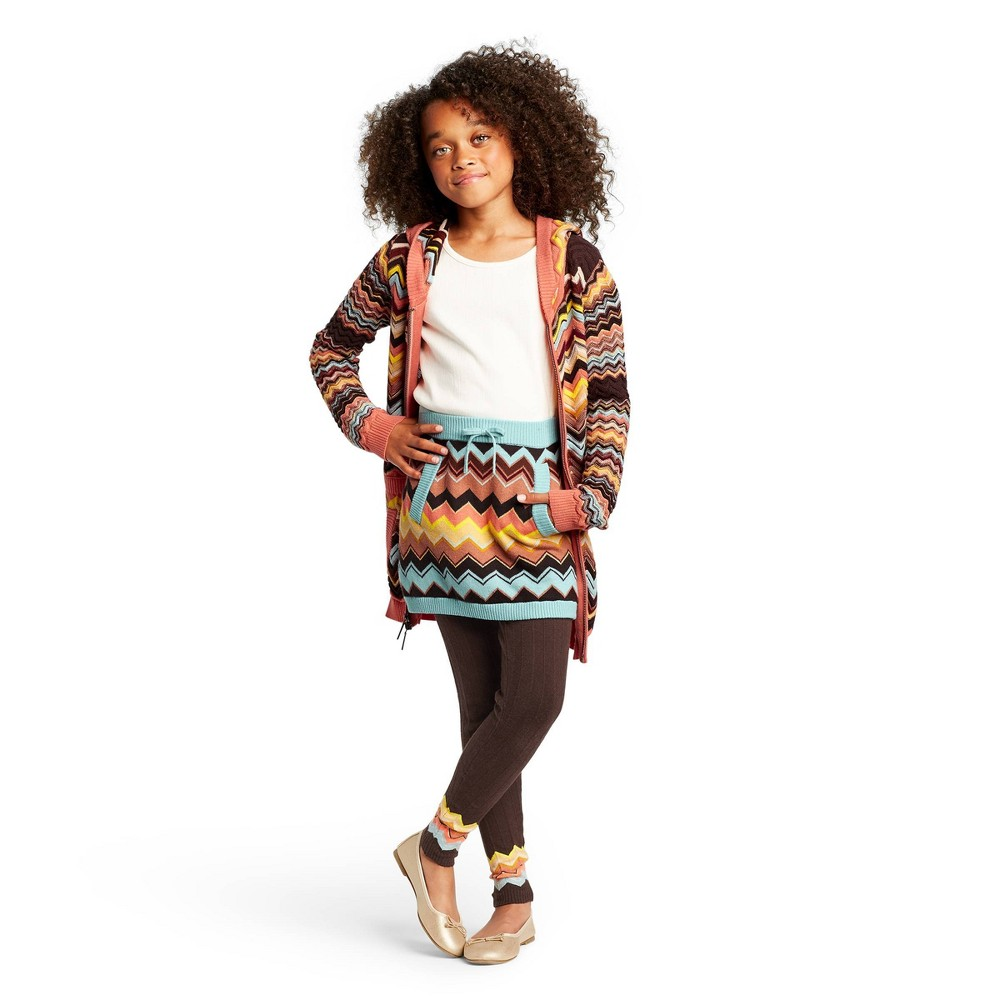 Image of Girls' Colore Zig Zag Mid-Rise Sweater Mini Skirt - Missoni for Target L, Women's, Size: Large, Blue