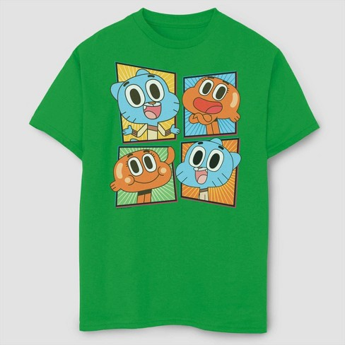 Boys' Gumball Smiling Character Panels T-Shirt - Green - image 1 of 2