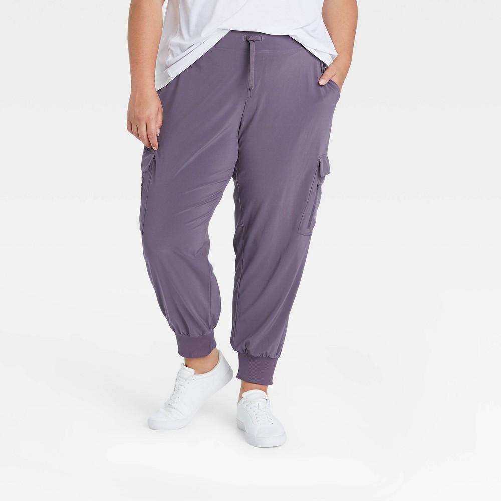 Women 39 S Plus Size Stretch Woven Cargo Pants All In Motion 8482 Purple 3x