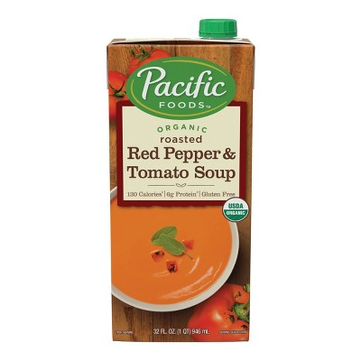 Pacific Foods Organic Gluten Free Roasted Red Pepper & Tomato Soup - 32oz