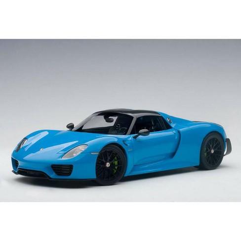 Porsche 918 Spyder Weissach Package Riviera Blue 1 18 Model Car By Autoart Target