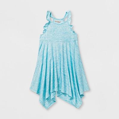 Toddler Girls' A - Line Dress - Cat & Jack™ Awesome Aqua 4T
