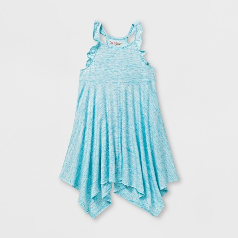 Toddler Girls' A - Line Dress - Cat & Jack™ Awesome Aqua - image 1 of 2