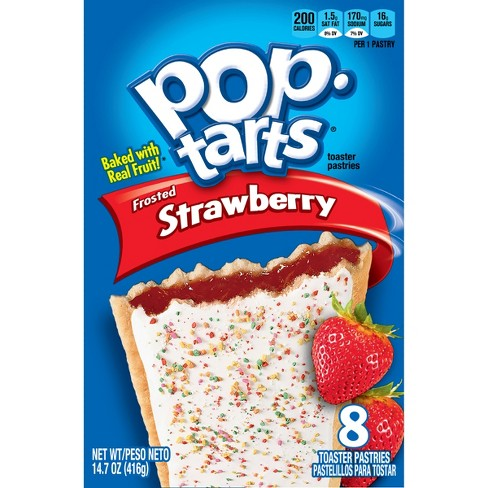 Pop-Tarts Frosted Strawberry Pastries - 8ct/14.7oz - Kellogg's - image 1 of 9