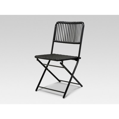 Standish Folding Patio Chair Black - Project 62™