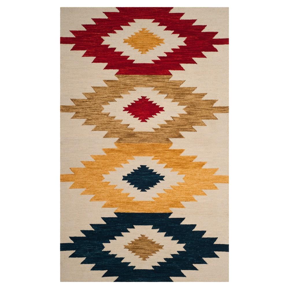 Tribal Design Tufted Area Rug 8'X10' - Safavieh, White