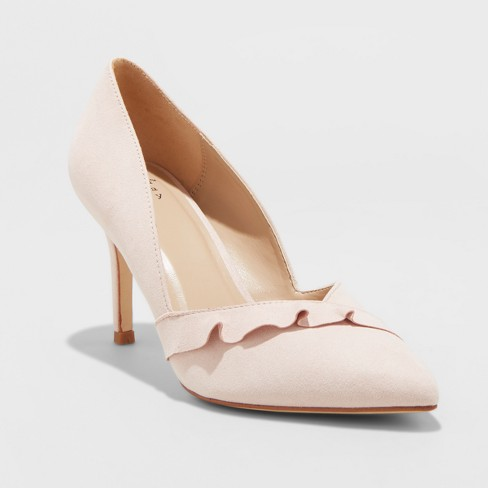 Women's Elisabeth Pumps - A New Day™ Blush - image 1 of 3