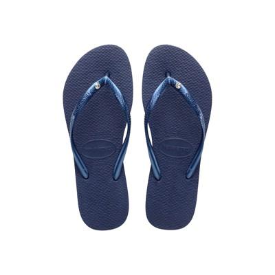 Havaianas - Women's Slim Crystal Glamour Flip Flop Sandal with Swarovski Crystal
