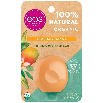 eos Natural & Organic Lip Balm Sphere - Tropical Mango - 0.25oz