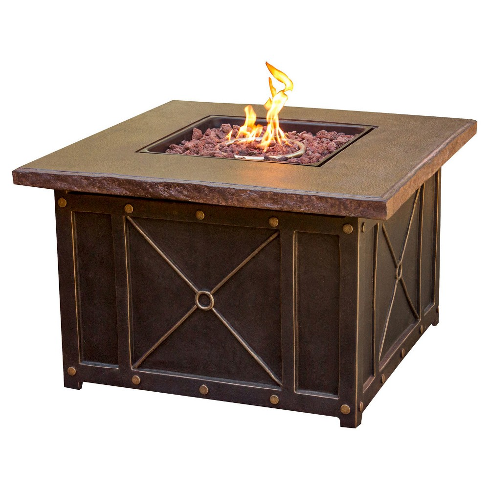 Image of Cambridge Classic 40 LP Gas Fire Pit with Durastone Top, Brown