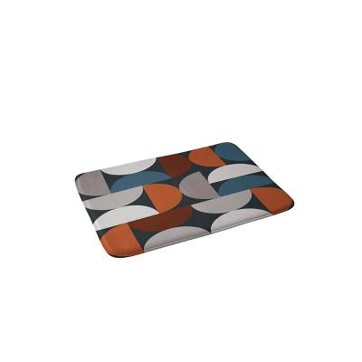 The Old Art Studio Mid Century Modern Geometric Memory Foam Bath Mat - Deny Designs