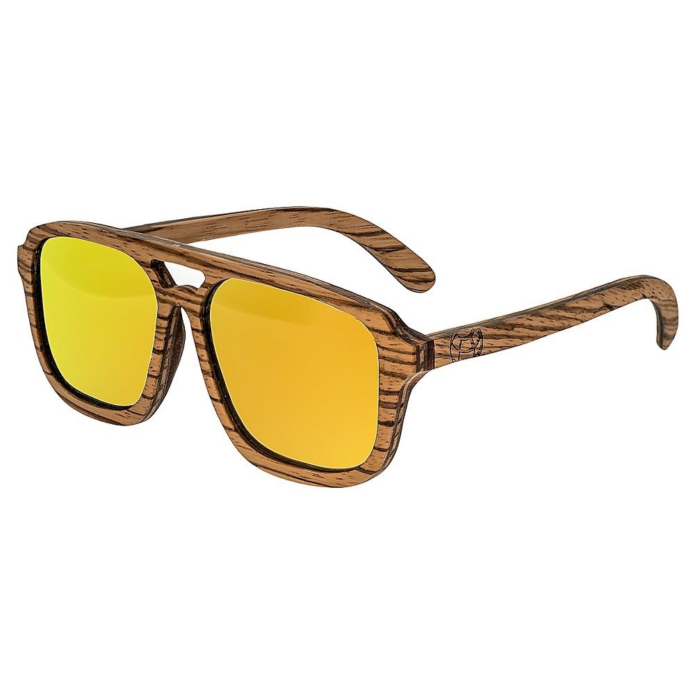 Earth Wood Playa Unisex Sunglasses - Beige, Papyrus