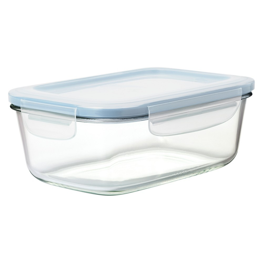 Oxo 8 Cup Glass Food Storage Container Blue