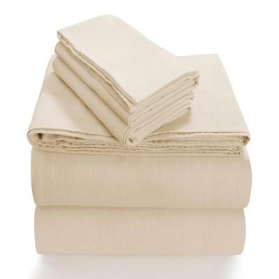 Queen Extra Deep Pocket Solid Sheet Set Ivory - Tribeca Living