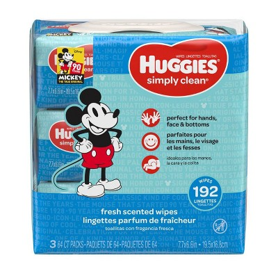 Huggies Simply Clean Wipes 3pk - 192ct