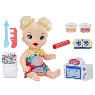 Baby Alive Snackin Treats Baby - Blonde Curly Hair