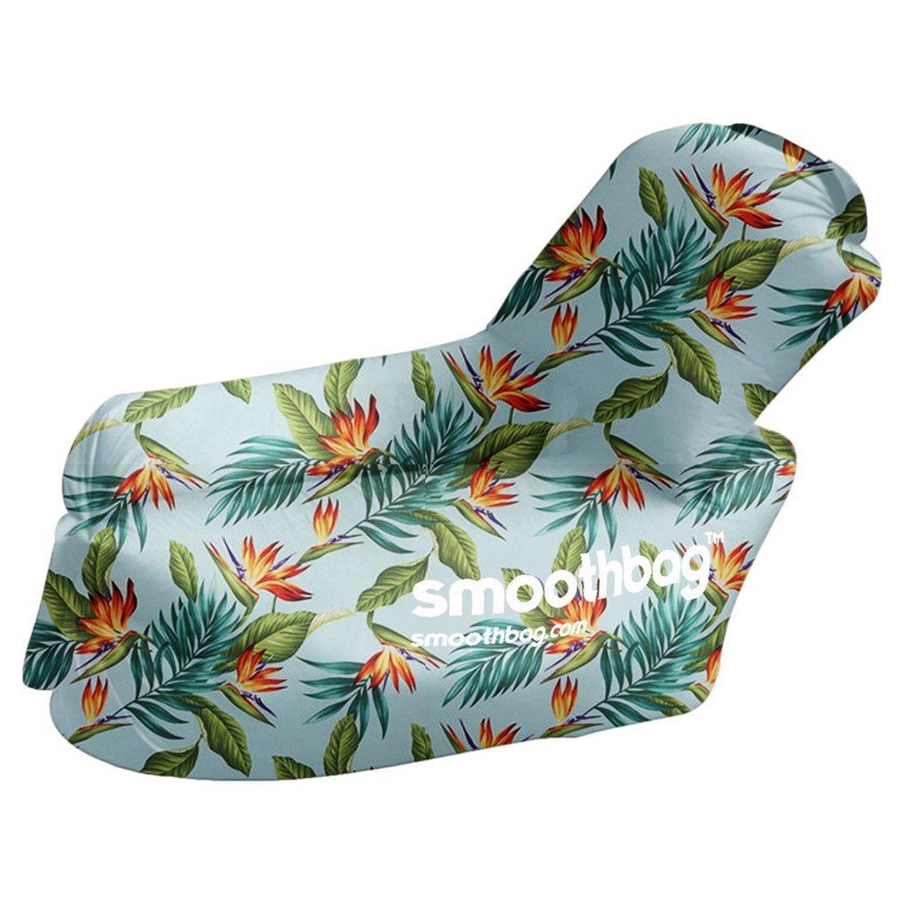 SmoothBag Portable Inflatable Pop-Up Lounging Chair with Comfy Detacha - Tropic