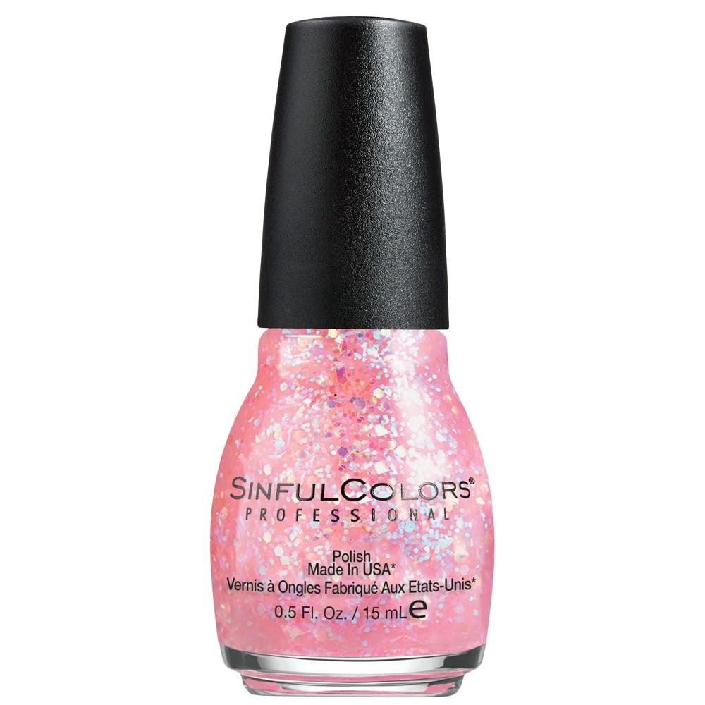 Sinful Colors Nail Polish - Pinky Glitter - 0.5 fl oz