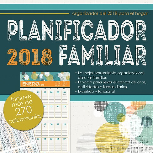 2018 planificador familiar family planner with bonus sticker sheet wall calendarspanish edition trends international