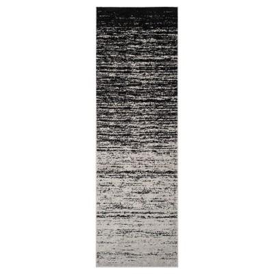 "Norris Runner - Silver/Black (2'6""x8')- Safavieh"