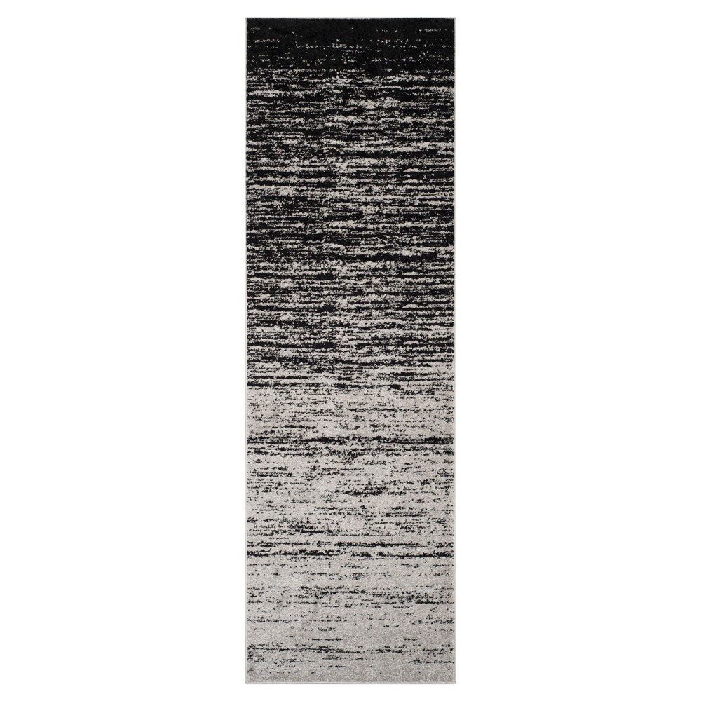 Norris Runner - Silver/Black (2'6x8') - Safavieh